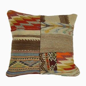 Grand Housse de Coussin Patchwork Kilim de Vintage Pillow Store Contemporary