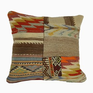 Large Patchwork Kilim Pillow Cover from Vintage Pillow Store Contemporary