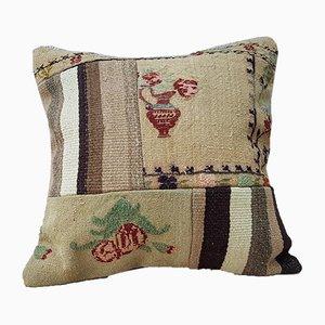 Housse de Coussin Kilim Fait Main avec Patchwork de Vintage Pillow Store Contemporary, Turquie