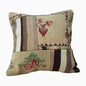 Turkish Handmade Kilim Pillow Cover with Patchwork from Vintage Pillow Store Contemporary