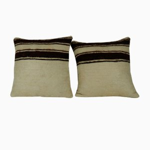 Turkish Goat Hair Shaggy Kilim Pillow Covers from Vintage Pillow Store Contemporary, Set of 2