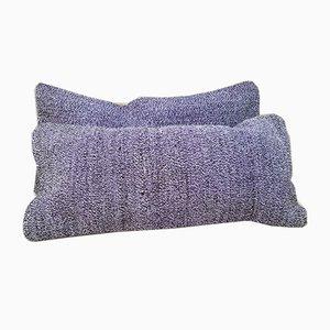 Lange Bohème Kelim Kissenbezüge aus Wolle von Vintage Pillow Store Contemporary, 2er Set