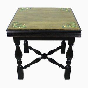 Mesa de centro vintage pequeña pintada a mano
