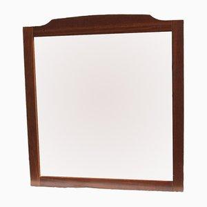 Beleuchteter italienischer Spiegel mit Rahmen aus Kirschholz, 1980er