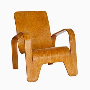 Plywood Armchair by Han Piek for Lawo, 1940s