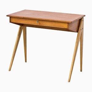 Small Teak Desk by Yngve Ekström for ESE Möbler, 1950s