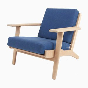 Vintage Model GE290 Oak & Wool Armchair by Hans J. Wegner for Getama, 1969