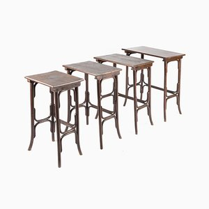 Antique No. 10 Beech Nesting Tables from Thonet