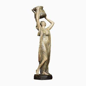Antike Wasserträgerin Skulptur im Jugendstil von Friedrich Goldscheider