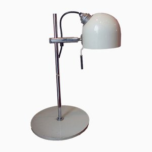 Vintage Iron & Lacquer Table Lamp, 1970s