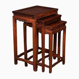 Tavolini ad incastro antichi in palissandro, Cina