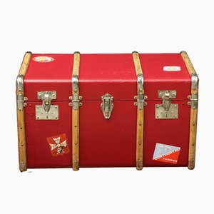 Red Steamer Trunk, 1920s