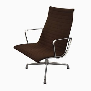 EA 115 Aluminum & Wool Chair by Charles & Ray Eames for Herman Miller, 1960s