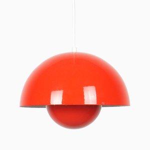 Lámpara colgante Flowerpot escandinava de Verner Panton para Louis Poulsen, años 60