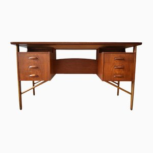Bureau en Teck par Svend Aage Madsen pour Sigurd Hansen, 1950s
