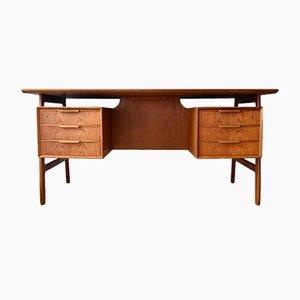 Furnierter Schreibtisch aus Teak von Omann Jun, 1960er