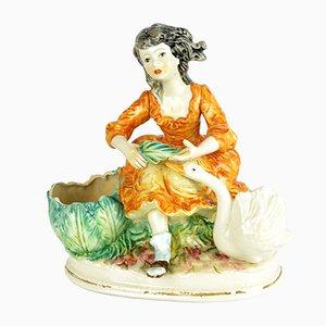 Figura grande de cerámica de Capodimonte, años 50