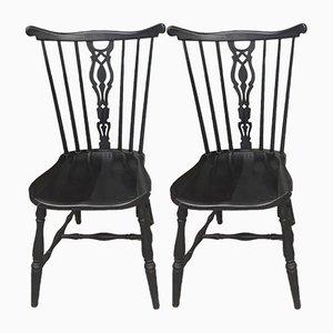 Esszimmerstühle aus Birnbaumholz von Gemla Möbler, 1950er, 2er Set