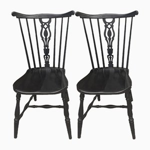Pearwood Dining Chairs from Gemla Möbler, 1950s, Set of 2