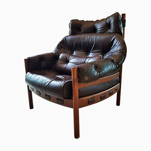 Mid-Century Danish Rosewood Lounge Chair by Arne Norell for Coja