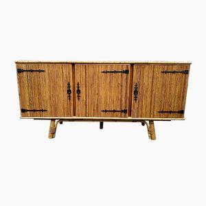 Vintage Rattan Sideboard, 1950s