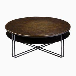Tavolino da caffè Binate rotondo di Richy Almon per NOVOCASTRIAN