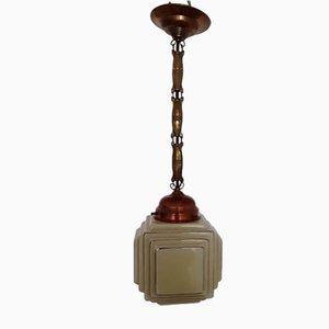 Lámpara de techo alemana Art Déco, años 20