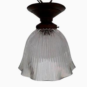 Kleine deutsche Deckenlampe aus Glas im Jugendstil