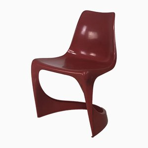 Chaise Empilable Rouge par Steen Ostergaard pour Cado, 1972
