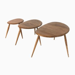 Mid-Century Nesting Tables by Lucian Ercolani for Ercol