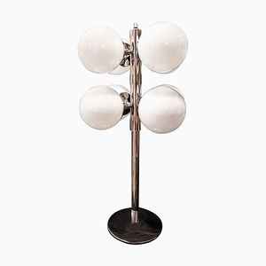 Mid-Century White Glass Table Lamp from Lightolier