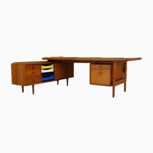 Juego de escritorio y aparador vintage de teca de Arne Vodder para Sibast, años 60