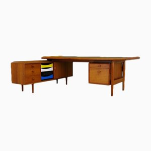 Vintage Teak Set with Desk & Sideboard by Arne Vodder for Sibast, 1960s