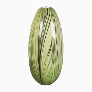 Italian Green Murano Glass Vase, 1950s