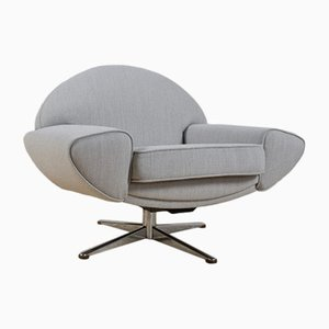 Grey Capri Lounge Chair by Johannes Andersen for AB Trensums Fåtöljfabrik, 1958