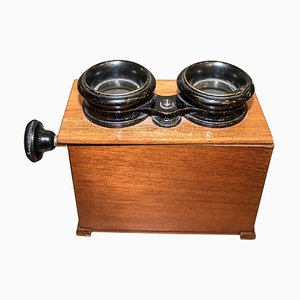 Antique Edwardian English Mahogany Stereoscope
