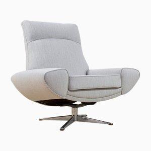 Grauer Sessel mit hoher Rückenlehne von Johannes Andersen für Trensums, 1958