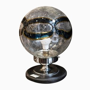 Mid-Century Blown Murano Glass Globe Table Lamp, 1970s