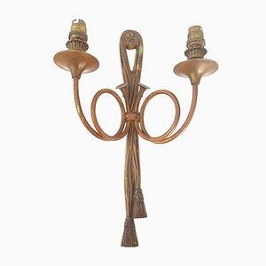 Französische Wandlampe aus Messing im Empire-Stil, 1950er