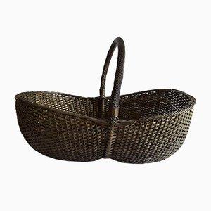 Antique Brass Wire Braided Basket