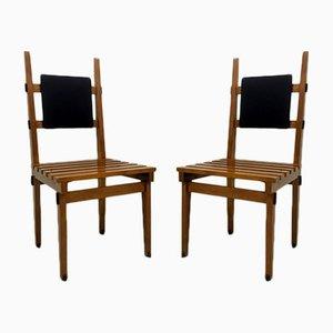 Italienische Beistellstühle, 1960er, 2er Set