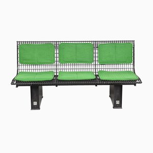 Italian Enamelled Steel Bench by Osvaldo Borsani for Tecno, 1982