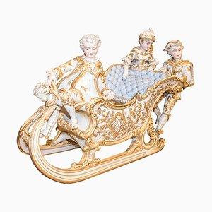 Trineo barroco de porcelana