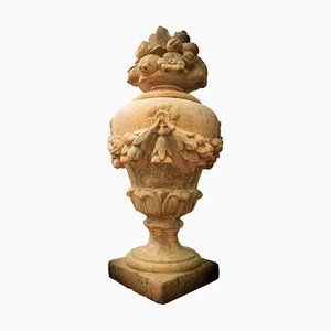 Vintage French Terracotta Garden Ornamental Piece, 1940s