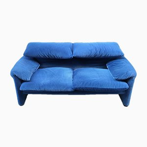 Vintage 2 Seater Maralunga Sofa by Vico Magistretti for Cassina