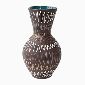 Jarrón vintage de cerámica, años 70