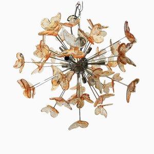 Lampadario Sputnik in vetro di Murano rosso di Italian light design