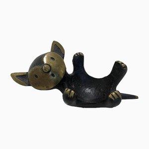 Lying Cat Figurine by Walter Bosse for Herta Baller, 1950s