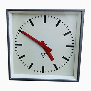 Industrial Factory Clock from Pragotron, 1960s