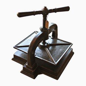 Prensa de libros de hierro fundido, años 30